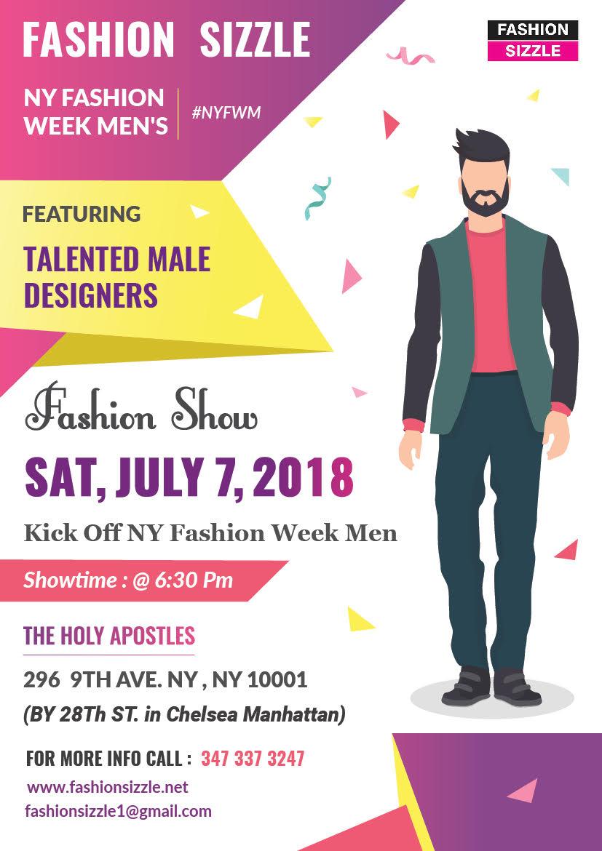 Fashion Sizzle NYFW Menswear Fashion Show 2018